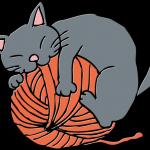 毛糸気分な猫
