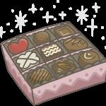 箱詰めチョコ