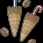 傘チョコと麦チョコ