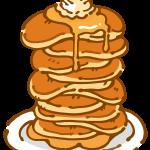 たくさん重ねたパンケーキ