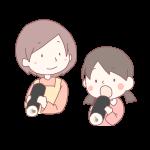 恵方巻きを食べる親子