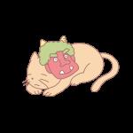 鬼の面と猫
