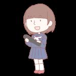 卒業生の女の子(セーラー)