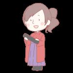 卒業生の女の子(袴)