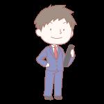 卒業生の男の子(ブレザー)