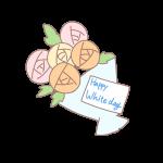 メッセージのついた花束