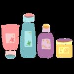 洗顔料と化粧水と乳液とクリーム