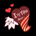 バレンタイン_羽とリボン