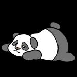 寝るパンダ