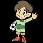 サッカーボールを持っている男の子