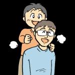 お父さんに肩たたき