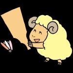 羊と羽子板