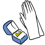 手袋と結婚指輪