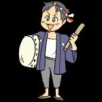 太鼓を持った男の子