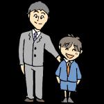 入学式のパパと息子