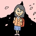 入学式の女の小学生