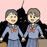 女子学生2人
