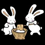 ウサギの餅つきその1