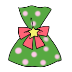 緑のラッピングのプレゼント