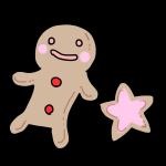 人形と星のクッキー