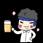ビールを持ったサラリーマン