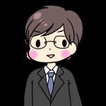 スーツを着た成人男性