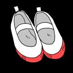 赤い上履き