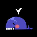 にっこり笑うクジラ