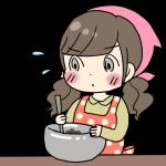 チョコレートを手作りしている女の子