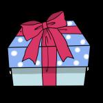青いプレゼント箱
