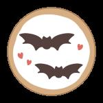 アイシングクッキー(コウモリ)
