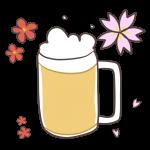 花見といえばビール