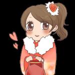 桃色の振袖の女の子