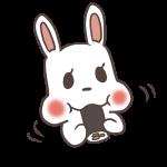 恵方巻きを食べるウサギ