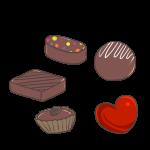 5種のチョコレート