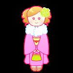 着物の成人女性