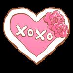 「XOXO」の文字入りハート