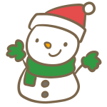サンタ帽子の雪だるま(赤)