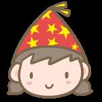 パーティ帽子の女の子