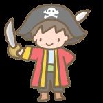 仮装する男の子(海賊)