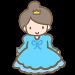 仮装する女の子(ブルーのドレス)