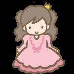仮装する女の子(ピンクのドレス)