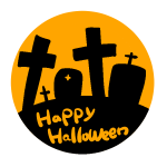 お墓「Happyhalloween」