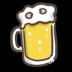 ビールに花びら