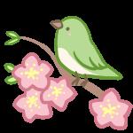 ウグイスと桃の花
