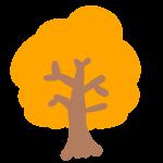 紅葉の木(オレンジ)