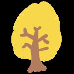 紅葉の木(黄色)