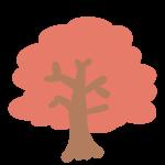 紅葉の木(赤)