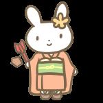 七歳の女の子(ウサギ)