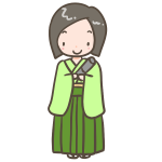 袴の女の子(ボブ)